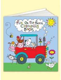 Image of Square Colouring Book - Fun on the Farm